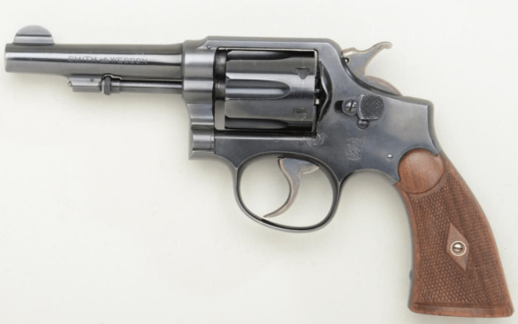A .38 Special Smith & Wesson, much like the one carried by Warren Beatty as Clyde Barrow.