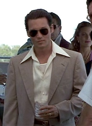 Johnny Depp as Joe Pistone in Donnie Brasco.