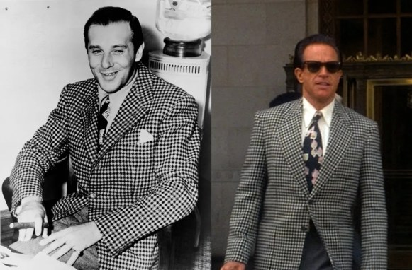 The real Bugsy (left) and Beatty's interpretation (right).