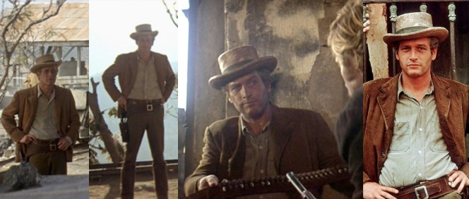 Poor Butch hardly even gets a chance to show off his gun belt, as that flashy Sundance hogs all the good shootin' time in the film!