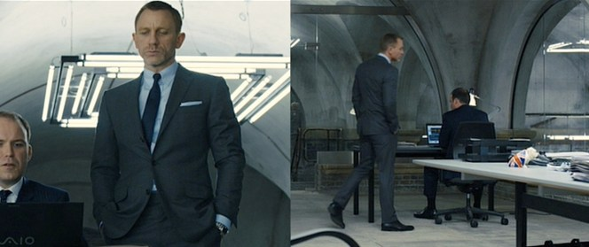 Bond, inspecting the work of the product placement gods.