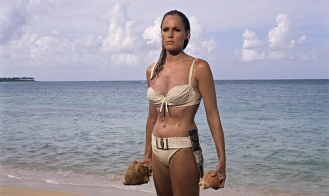"The producers evidently chose Dr. No as the first film in the series as it was decided that Honey's iconic emergence from the sea would validate the entire project. I'm sure ""validated"" explains how we all felt watching that scene for the first time."
