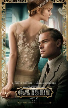 Some posters and promotional art for the film show Leonardo DiCaprio wearing a light brown herringbone suit that doesn't appear to show up in the finished film. The closest outfit would be this suit, which it certainly is not.