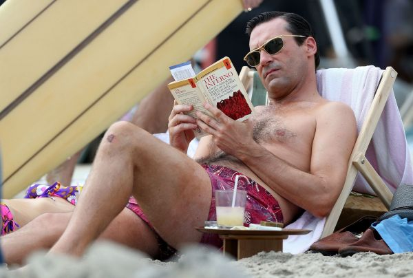 Reading books at the beach is a lost art with the new wave of technology taking over. Make the death of all those trees worthwhile and take your dog-eared copy of an old favorite down into the sand.