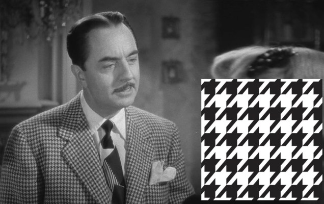 If this doesn't tell you what houndstooth is, then I can't help you. Go look inside a dog's mouth. I hope it's not rabid.