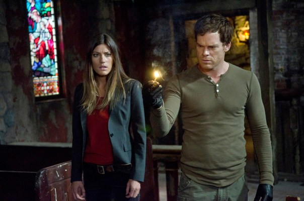 "Deb (Jennifer Carpenter) and Dex (Michael C. Hall) in the seventh season premiere, ""Are You...?"""