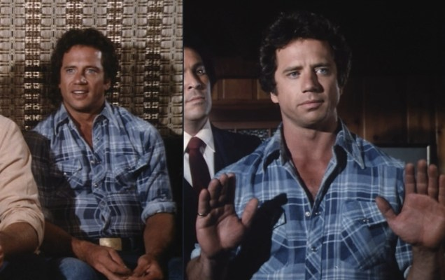 "Luke's shirt remained the same for the final seasons, seen here in ""Undercover Dukes"" (Episodes 6.16/6.17)."