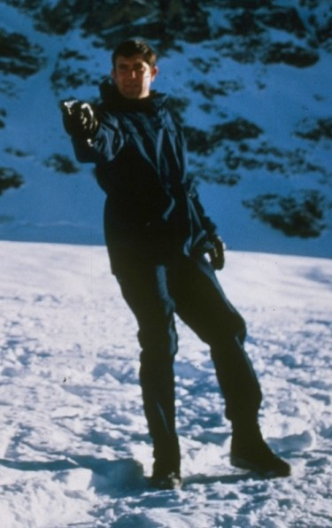 George Lazenby as James Bond in On Her Majesty's Secret Service (1969).