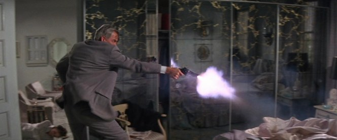 With a muzzle flash like that, I'd probably assume the gun had a kick to it, too.