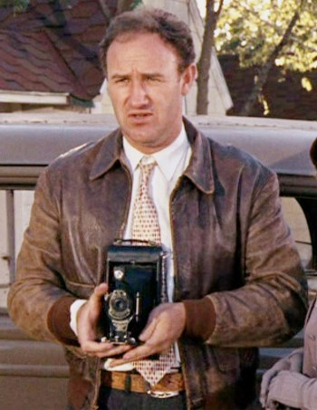 Gene Hackman as Buck Barrow in Bonnie and Clyde (1967).