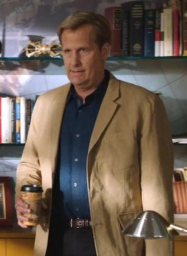 Jeff Daniels as Will McAvoy on The Newsroom (2012).
