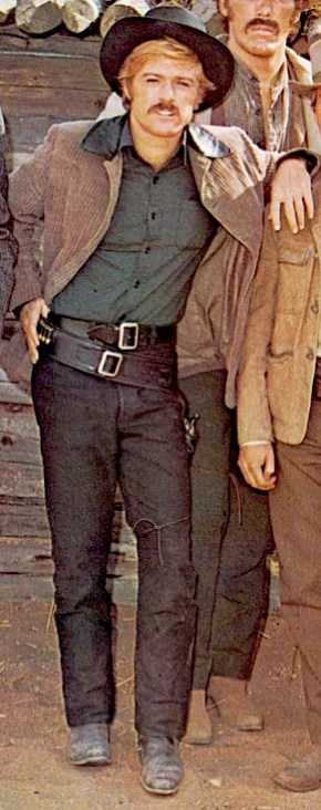 Robert Redford as The Sundance Kid in Butch Cassidy and the Sundance Kid (1969).