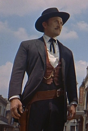 "Kirk Douglas as John ""Doc"" Holliday in Gunfight at the O.K. Corral (1957)."