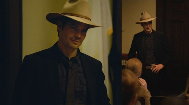 """Raylan knows what will intimidate even the steeliest of Harlan County's inhabitants in """"The Spoil"""" (Episode 2.08)."""