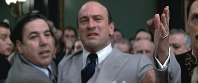 Although he played a great Al Capone, De Niro can't help but to make a good De Niro face.