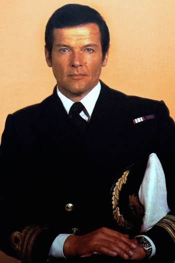 "Roger Moore sports Commander Bond's service dress uniform in this publicity photo for The Spy Who Loved Me as well as his ""Pepsi bezel"" Rolex GMT Master rather than the digital SEIKO he wears on screen."