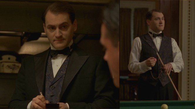 A real life mentor to up-and-coming mobsters like Lansky and Luciano, Rothstein prided himself on his attire, and he is arguably the best-dressed of Nucky's most prominent guests.