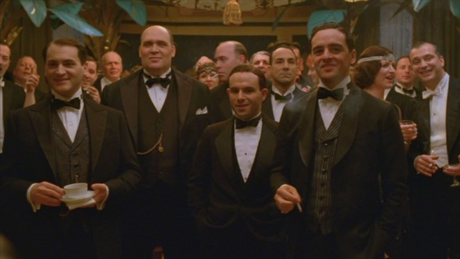 """Arnold Rothstein, George Remus, Meyer Lansky, and """"Lucky"""" Luciano are among Nucky Thompson's distinguished New Year's guests. We'll disregard George Remus just because anyone who refers to himself in the third person so frequently (then shoots and kills his wife, but that's a different story) doesn't quality as a BAMF in my book."""