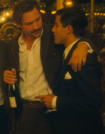 Hemingway literally takes Juan Belmonte under his wing.