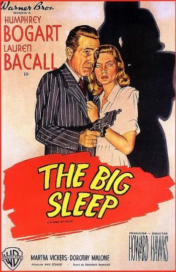 A theatrical poster from the time of the film's release, coloring Bogie's chalkstripe suit dark blue with a brick red tie.