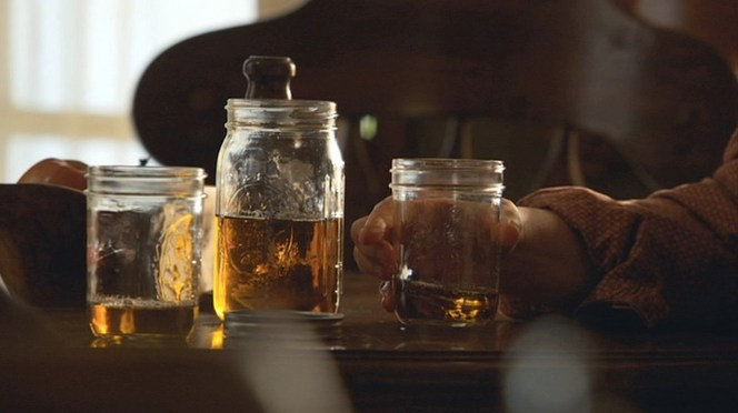 """I'm sure there's a """"you might be a redneck if..."""" joke somewhere about having """"good"""" mason jars to offer guests."""
