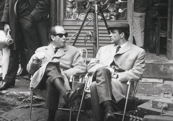 Young and Connery on set in Istanbul, 1963.