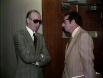 "The real Frank ""Lefty"" Rosenthal consults his attorney, future Las Vegas Mayor Oscar Goodman, during his gaming license hearings in the mid-1970s."