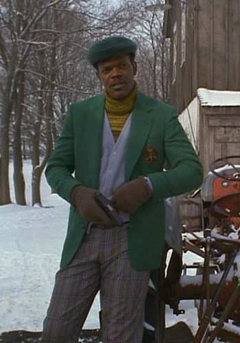 Samuel L. Jackson as Mitch Henessey in The Long Kiss Goodnight (1996).