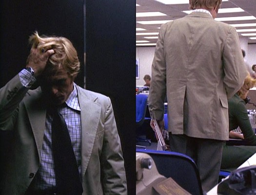 A tense elevator ride leads to an office breakthrough.