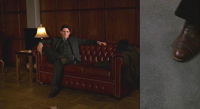 Tom kicks back in Leo's office.
