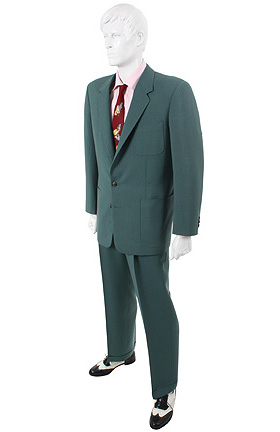 Redford's suit from Havana, as featured at The Golden Closet.