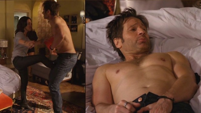 Hank's hotel room hijinks are intensified when Sasha discovers the identity of his newest bedmate.
