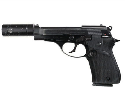 Al Pacino's screen-used Beretta Cheetah 81, sourced from The Golden Closet.