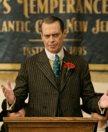 "Steve Buscemi as Enoch ""Nucky"" Thompson in the first episode of Boardwalk Empire."