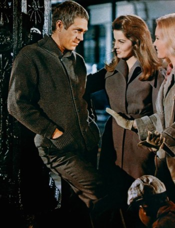 Steve McQueen, Ann-Margret, and Tuesday Weld in a promotional photo for The Cincinnati Kid (1965)
