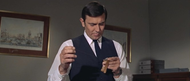 """Don't be jealous, 007. """"The other fella"""" never even got to wear the garrote-wire watch."""
