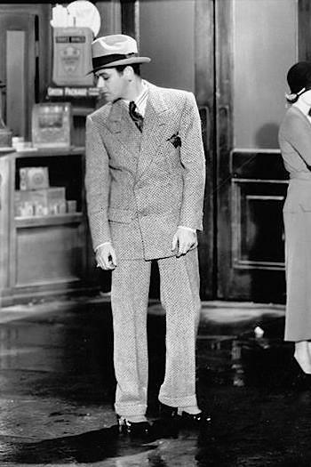Production photo of Paul Muni on the set of Scarface (1932)