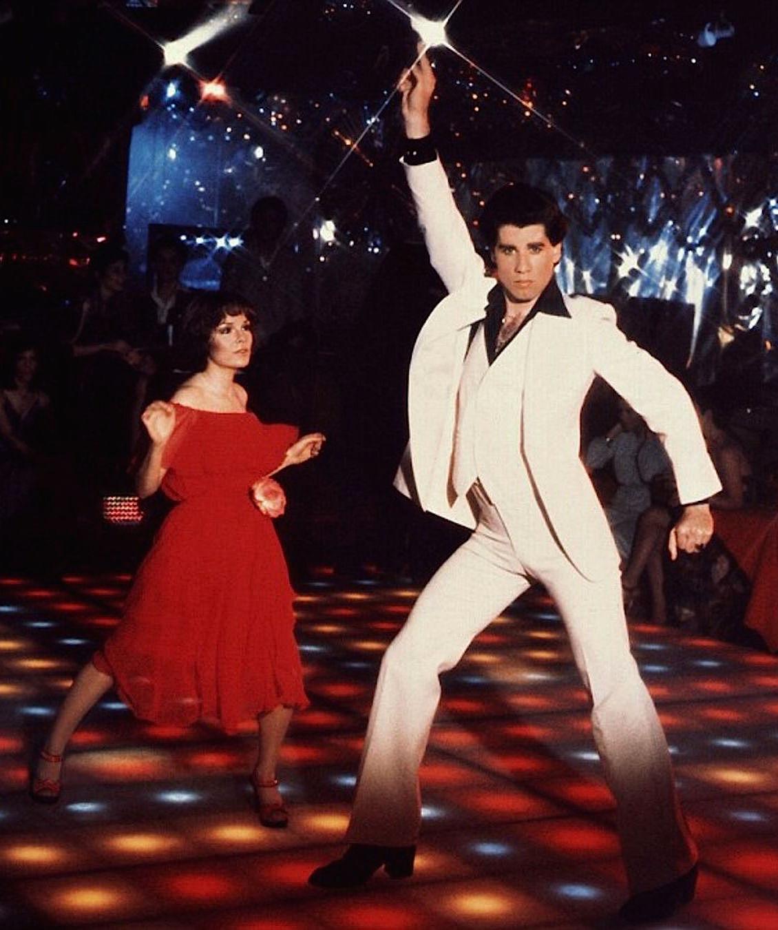 Men's Saturday Fever Travolta White Suit Costume Set 70s Disco Party Dancer