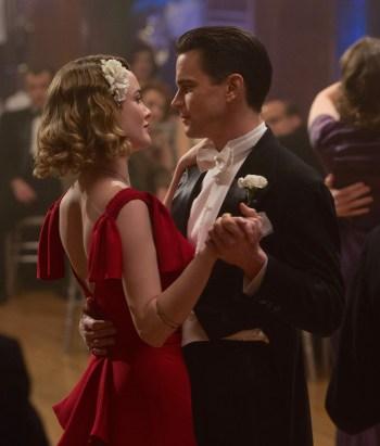 Monroe Stahr (Matt Bomer) dances with Kathleen Moore (Dominique McElligott) in the pilot episode of The Last Tycoon.