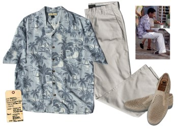 Denzel Washington's screen-worn costume from Out of Time. Source: Nate D. Sanders Auctions.