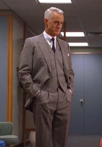 "John Slattery as Roger Sterling on Mad Men (Episode 1.10: ""Long Weekend"")"