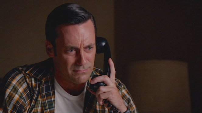 "Don makes a difficult phone call in ""Person to Person"" (Episode 7.14)."