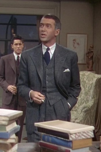 James Stewart as Rupert Cadell in Rope (1948)