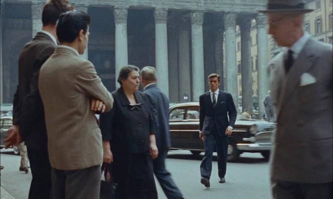 Ripley makes an impression as he strides through Rome traffic.