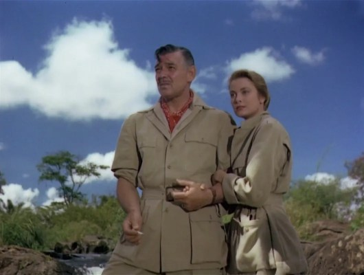Life imitated art as Clark Gable and Grace Kelly reportedly began an affair after taking secluded hunting breaks during the production, much as their respective characters Victor Marswell and Linda Nordley took advantage of their seclusion from the rest of the safari to begin their romance.