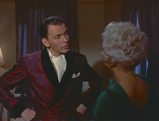 Joey's night of solitude is complicated by the surprise arrival of his former girlfriend Linda English (Kim Novak).