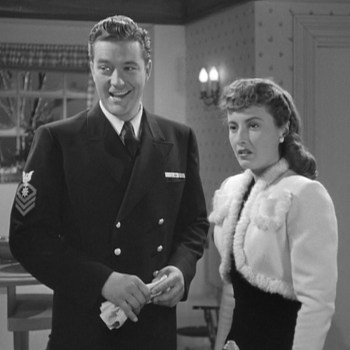 Dennis Morgan and Barbara Stanwyck in Christmas in Connecticut (1945)