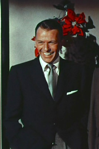 "Frank Sinatra in ""Happy Holidays with Bing & Frank,"" the 1957 Christmas special episode of The Frank Sinatra Show."