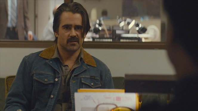 """Velcoro introduces his denim Wrangler jacket to viewers in the third episode, """"Maybe Tomorrow"""" (Episode 2.03)."""