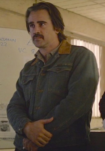 "Colin Farrell as Ray Velcoro on the second season of True Detective (Episode 2.04: ""Down Will Come"")"